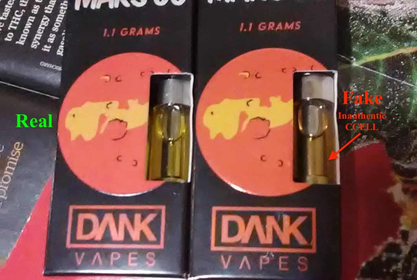 Fake Dank Vapes Carts: New Packaging, Updated May 2019
