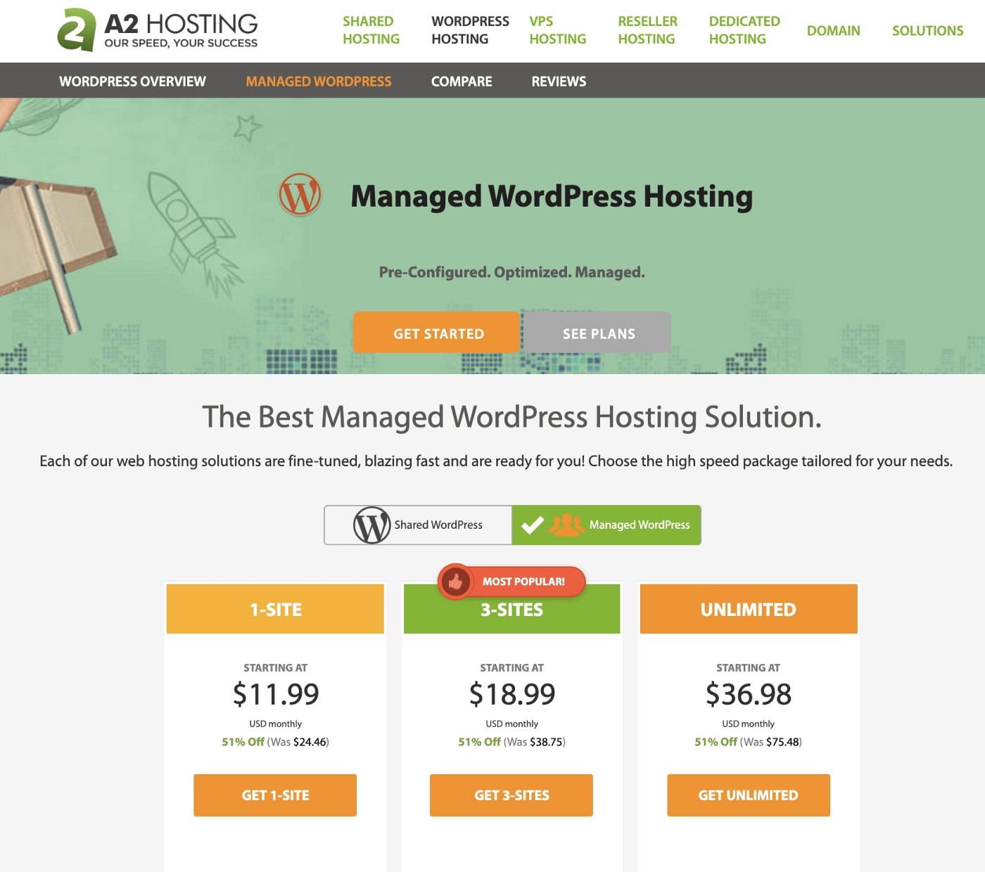 best hosting for viral website