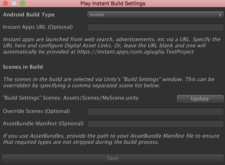 Creating an instant game with Google Play Instant and Unity