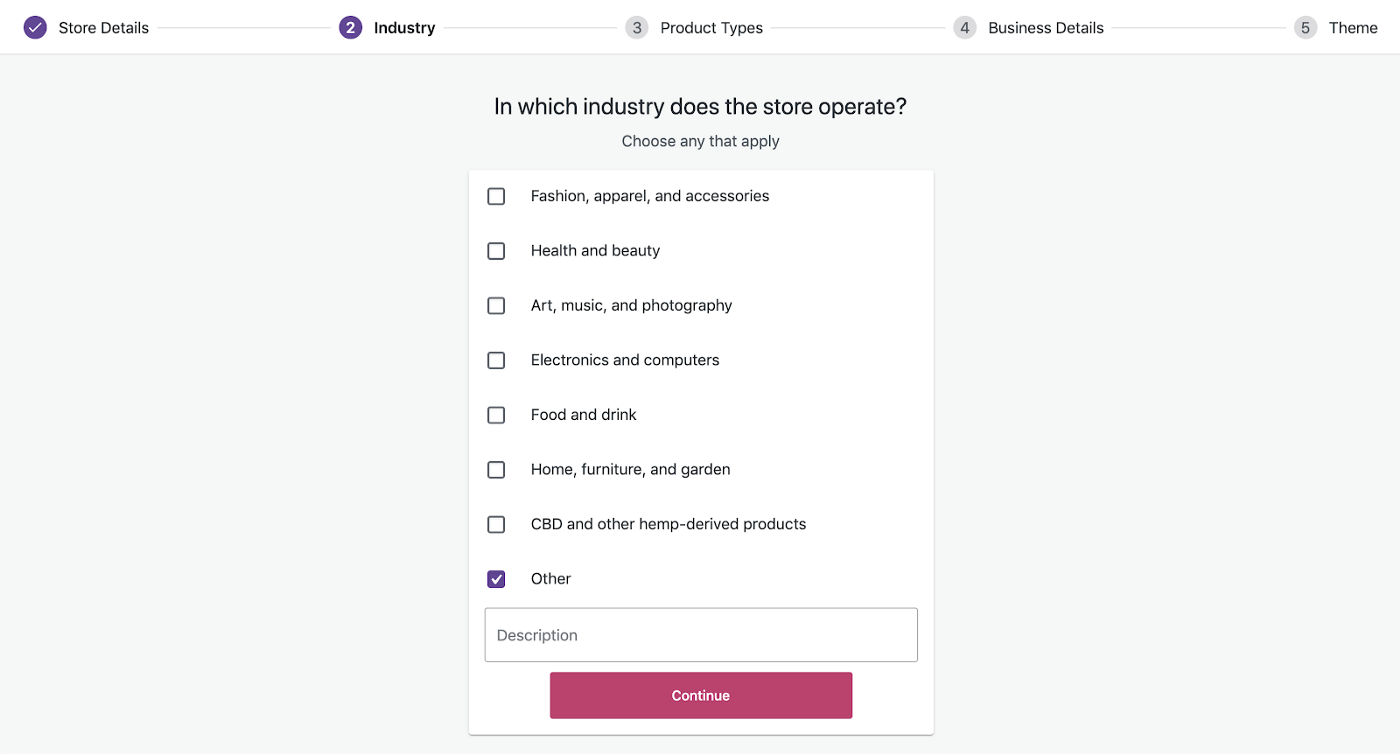 Step 2: Industry - How To Set Up WooCommerce