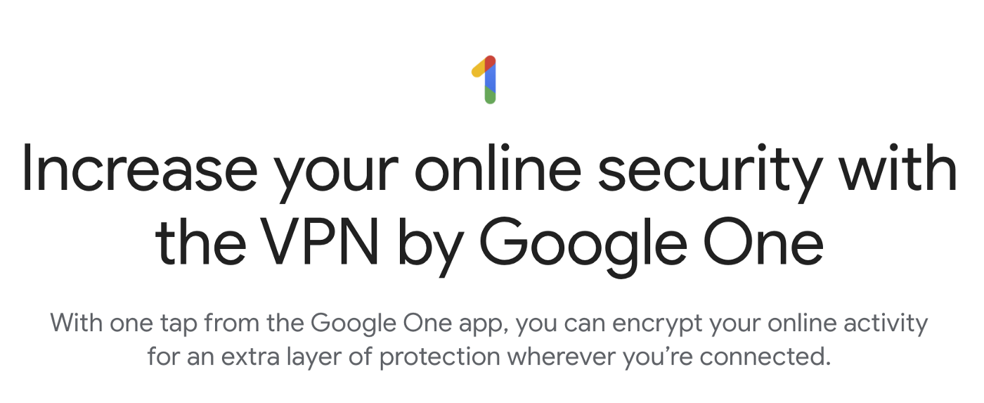 Steps to Enable VPN by Google One