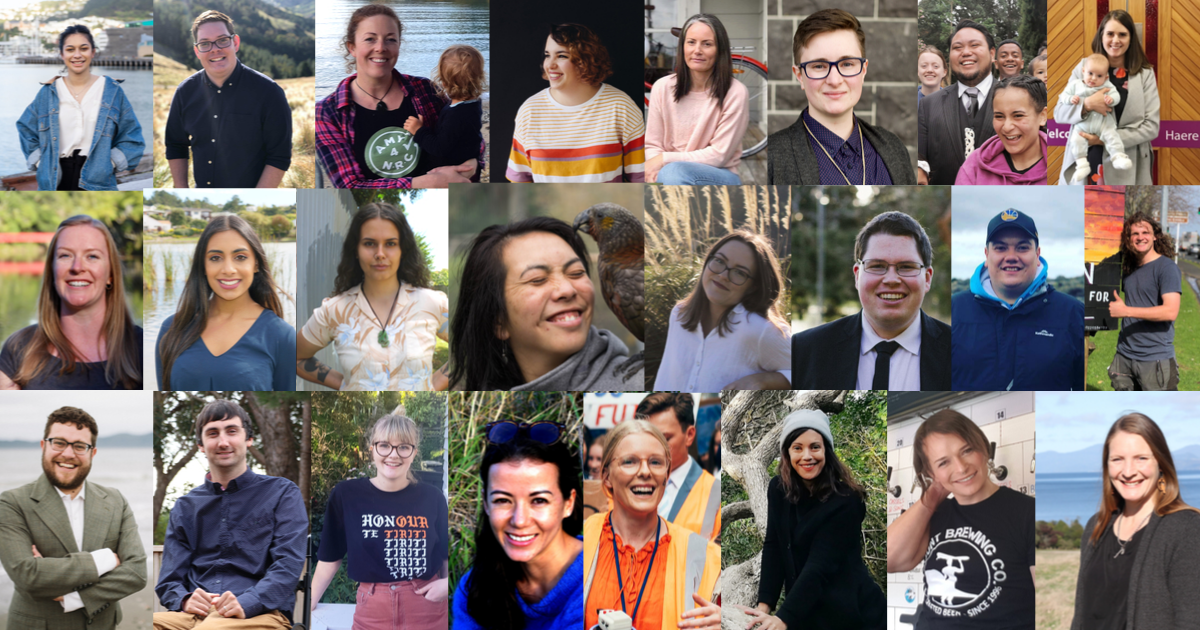 A collage of some of the 40 independent candidates under 40 who aim to shake up councils and advocate for people