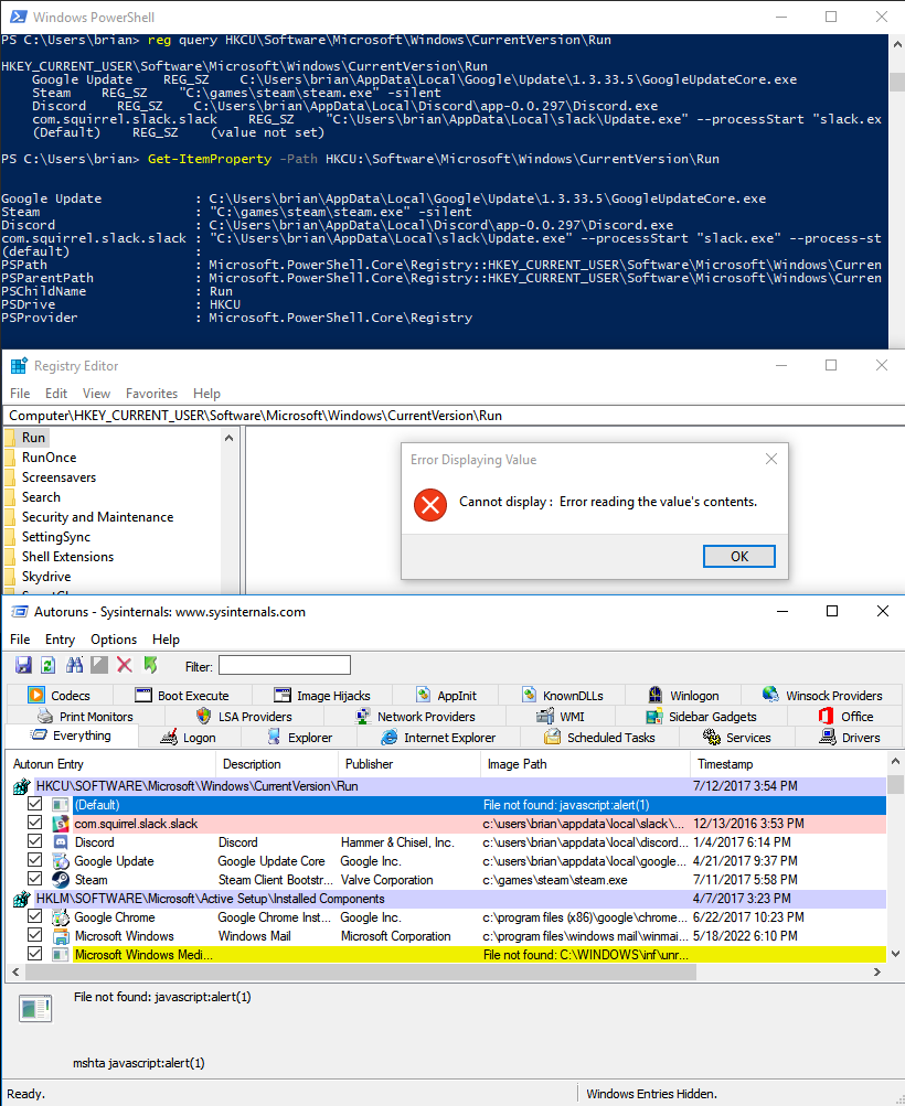 Hiding Registry keys with PSReflect - Posts By SpecterOps Team Members
