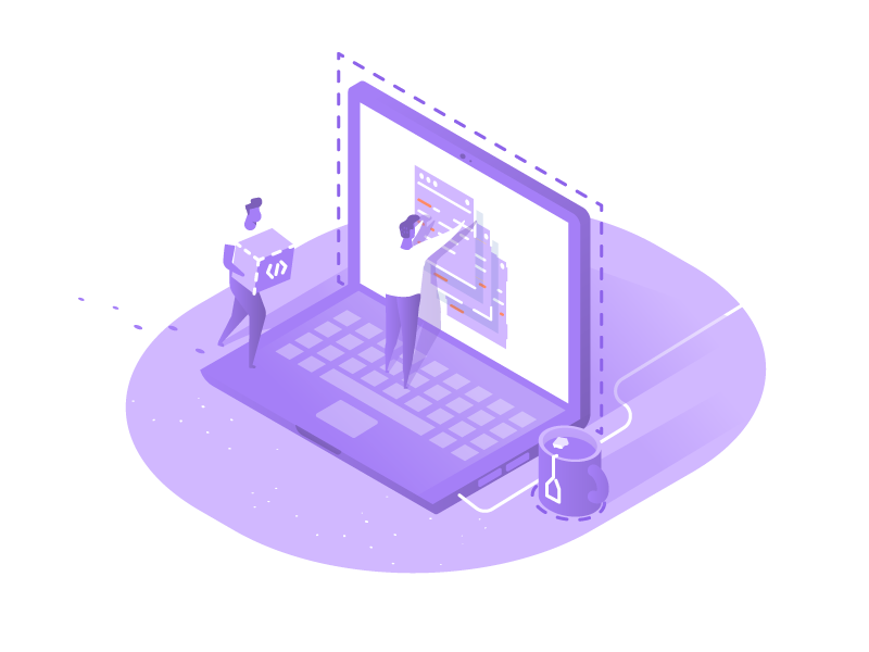 application-and-site-development-isometric-illustration-by-artur-stotch