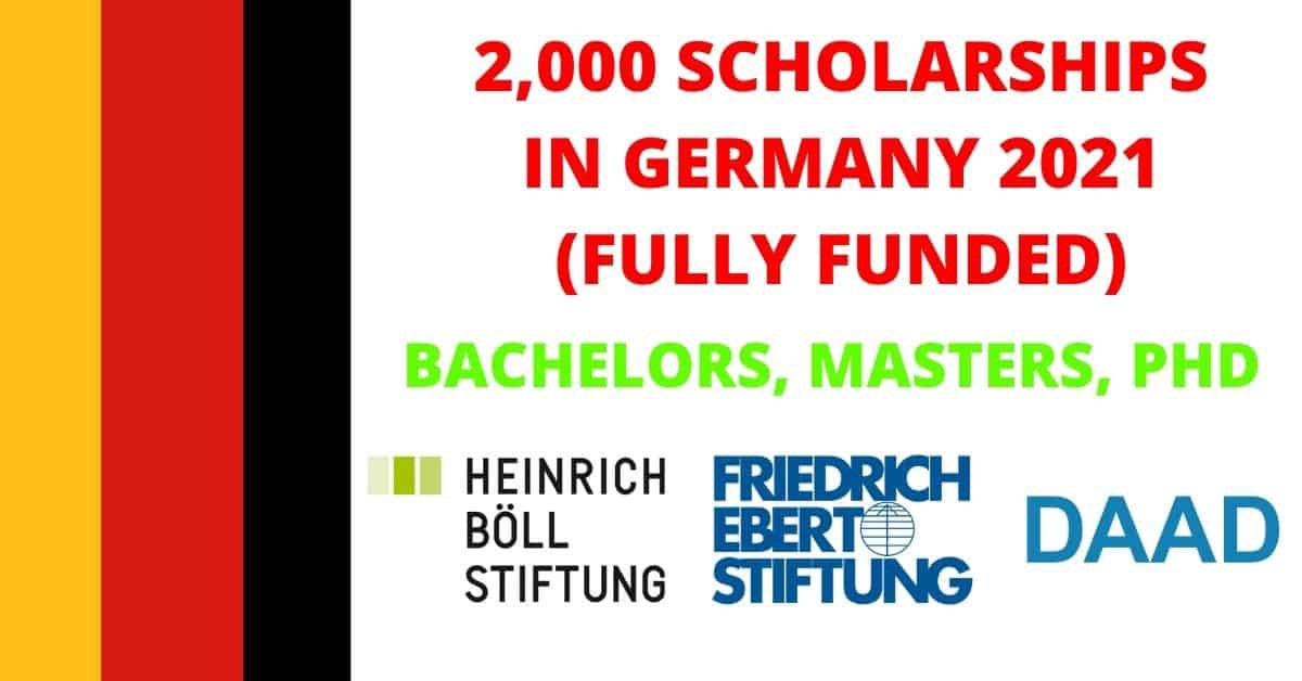List of Germany Scholarships 2021 | Fully Funded