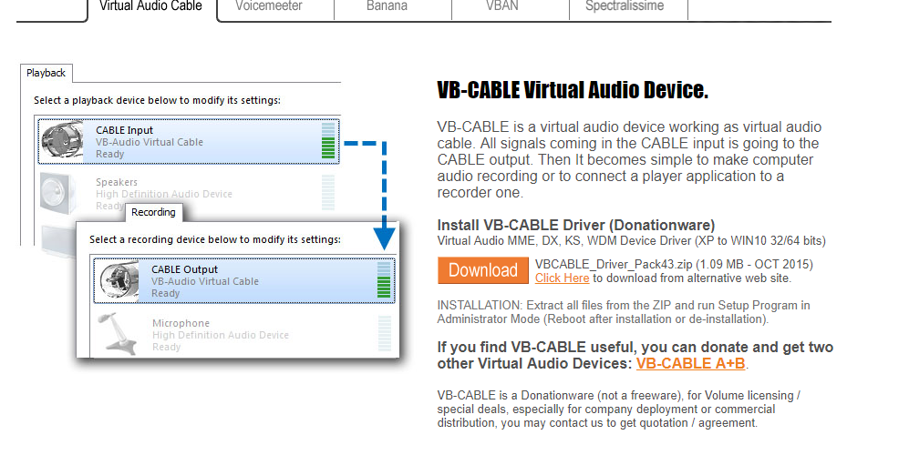 virtual audio cable free download windows xp