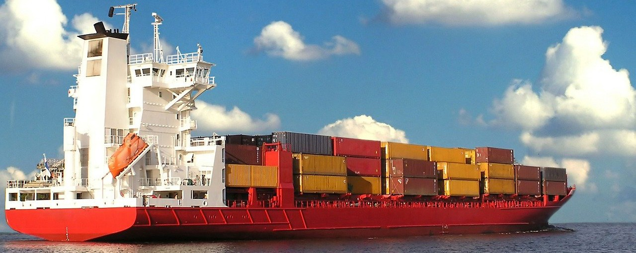 cargo ship in supply chain