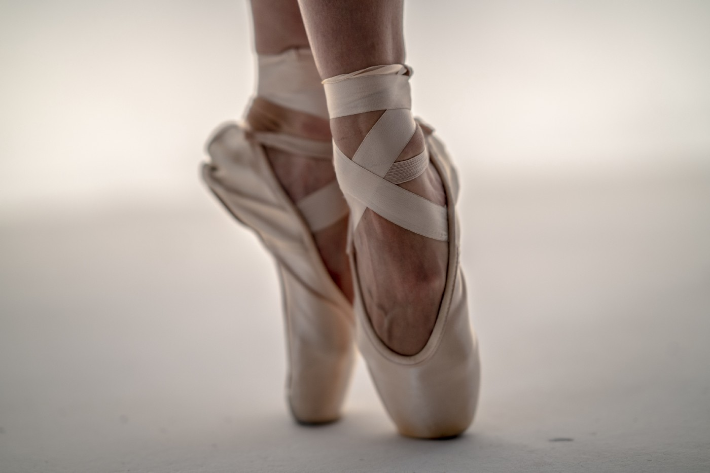 A pair of pointe shoes