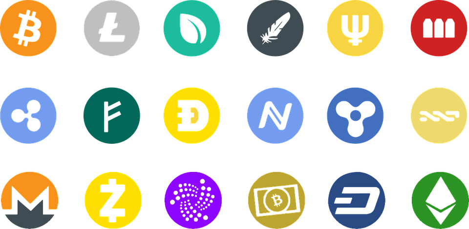 Different coins logo