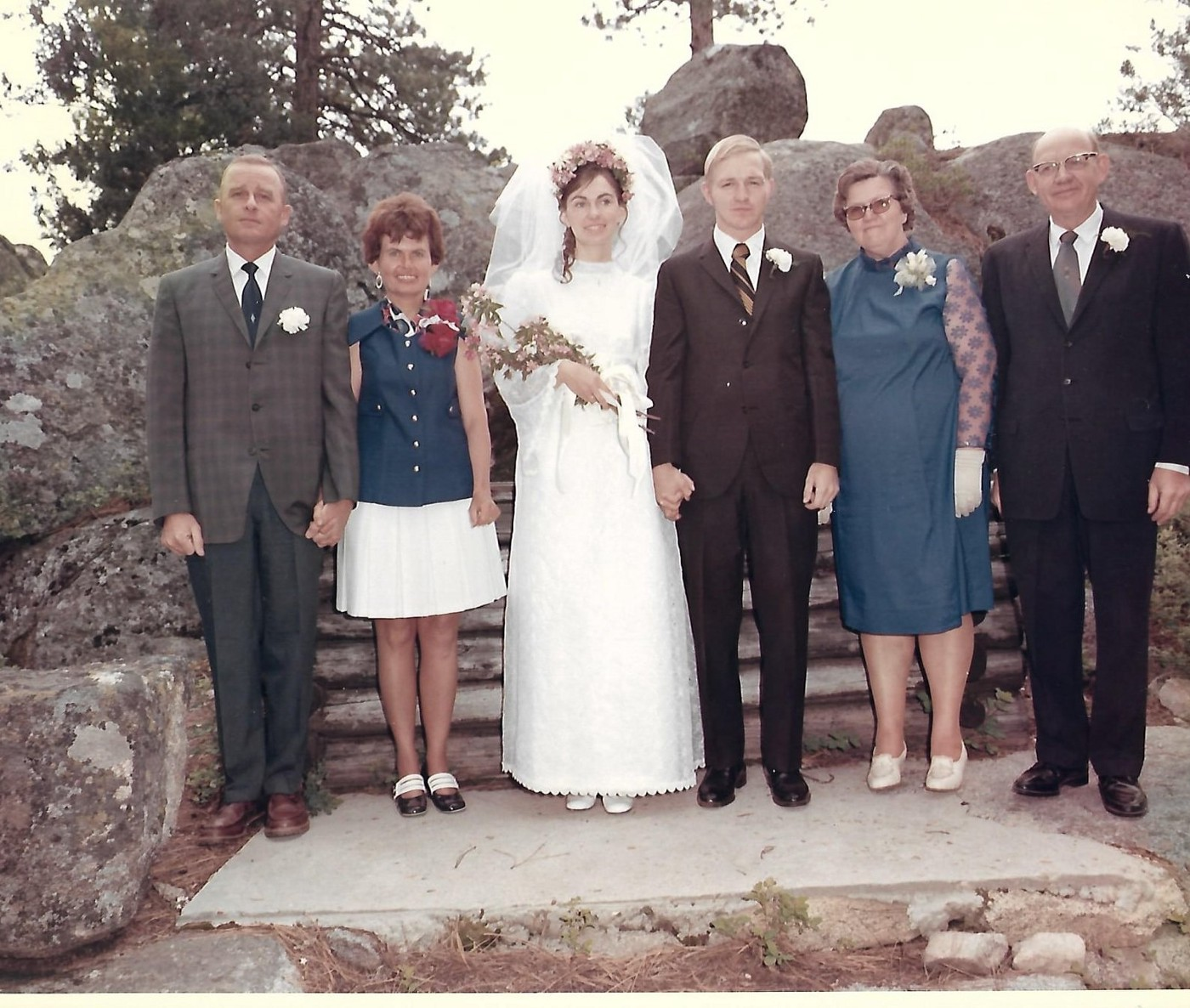 My parents wedding photo with my grandparents.