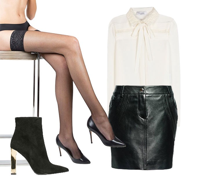 How to wear ankle boots with tights