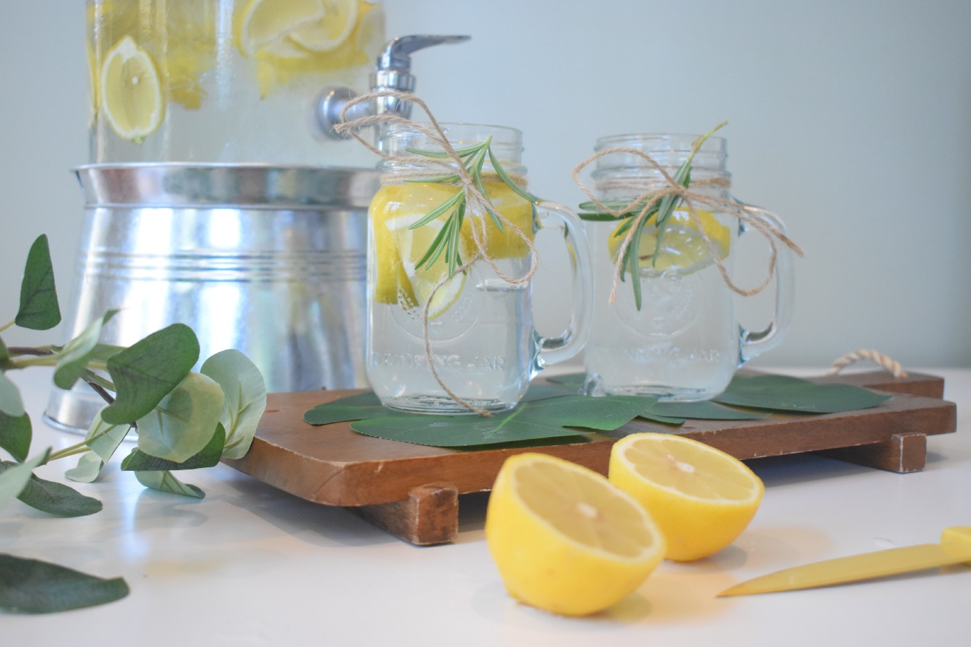 Citrus limes and lemons in water