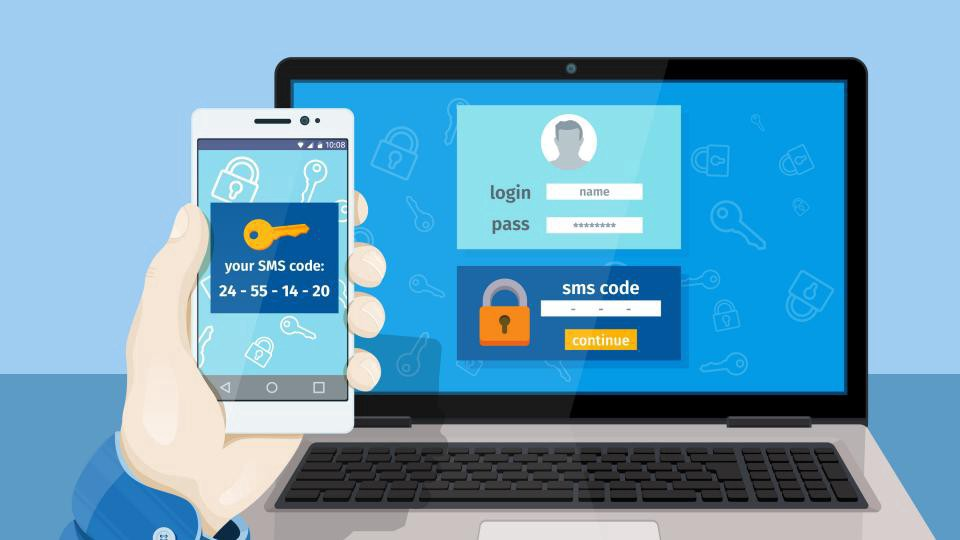 Multi-factor authentication via a code received on your phone