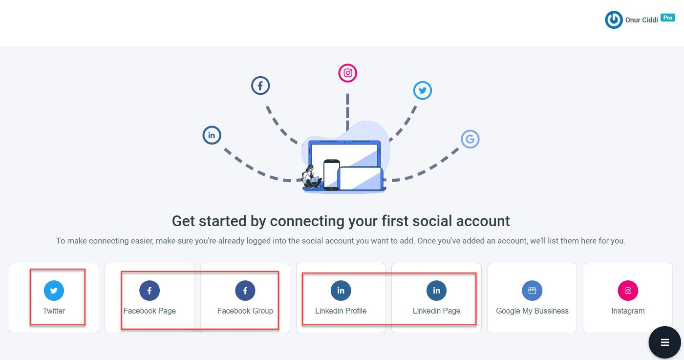 Start syncing your social media accounts here