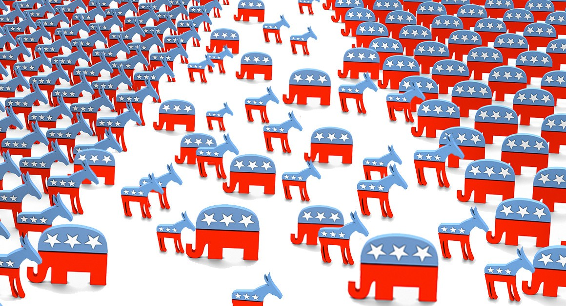 Graphic from POLITICO on the two-party system.