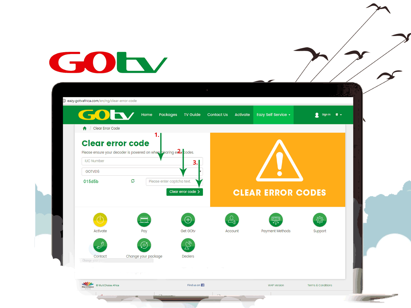 Clearing The E16 Error On Dstv & GoTV After Renewing On Zoto