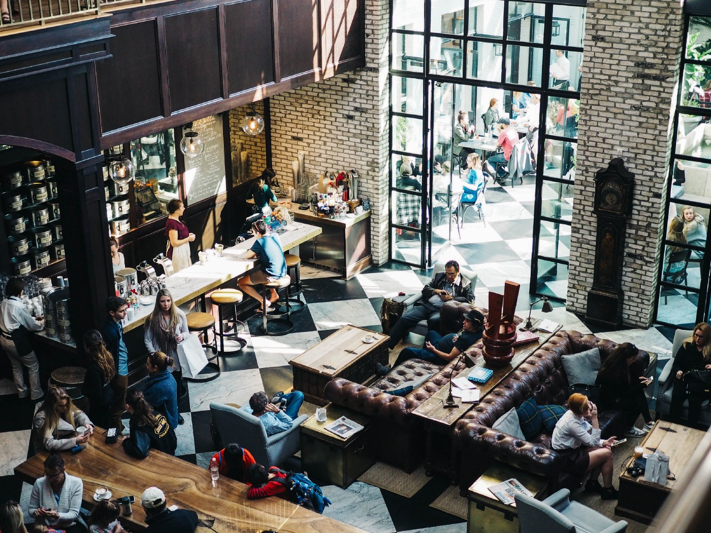 The coffee shop space with a noisy background makes you more effective.