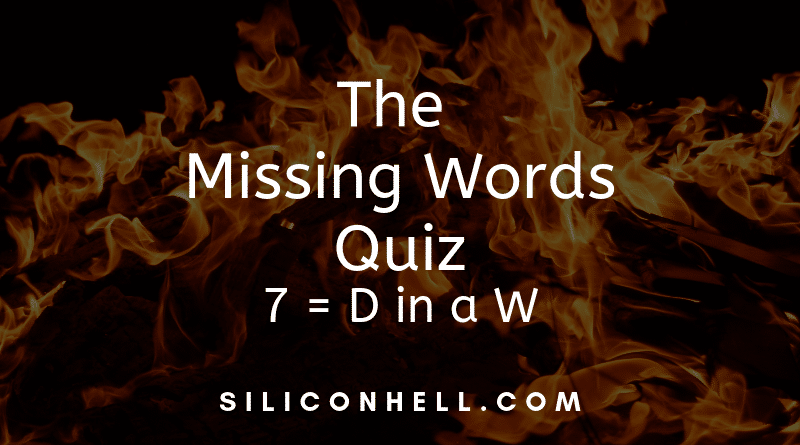 The Missing Words Quiz
