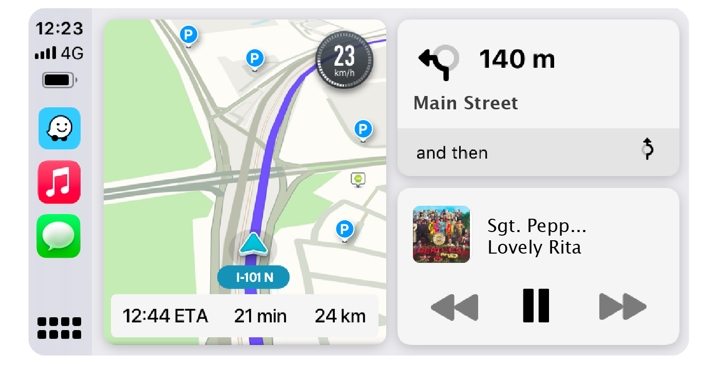 Having Waze on the CarPlay Dashboard makes for smoother drivers and easier jam sessions.