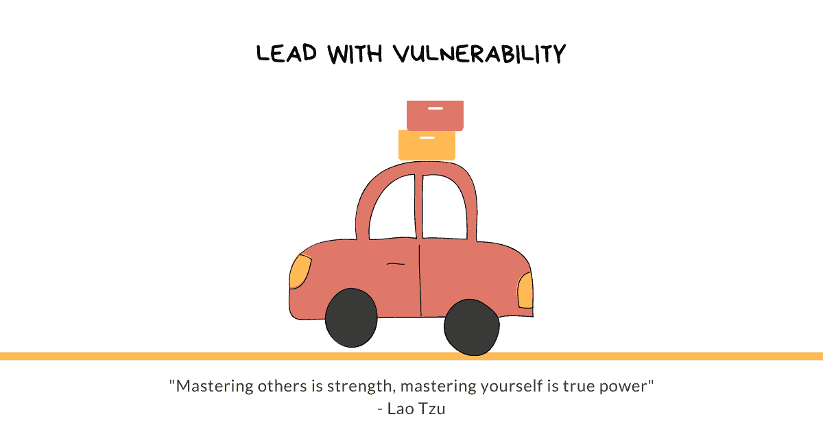 """A drawing of a car. Under it, there's a quote: Mastering others is strength; mastering yourself is true power.""""—Lao Tzu"""