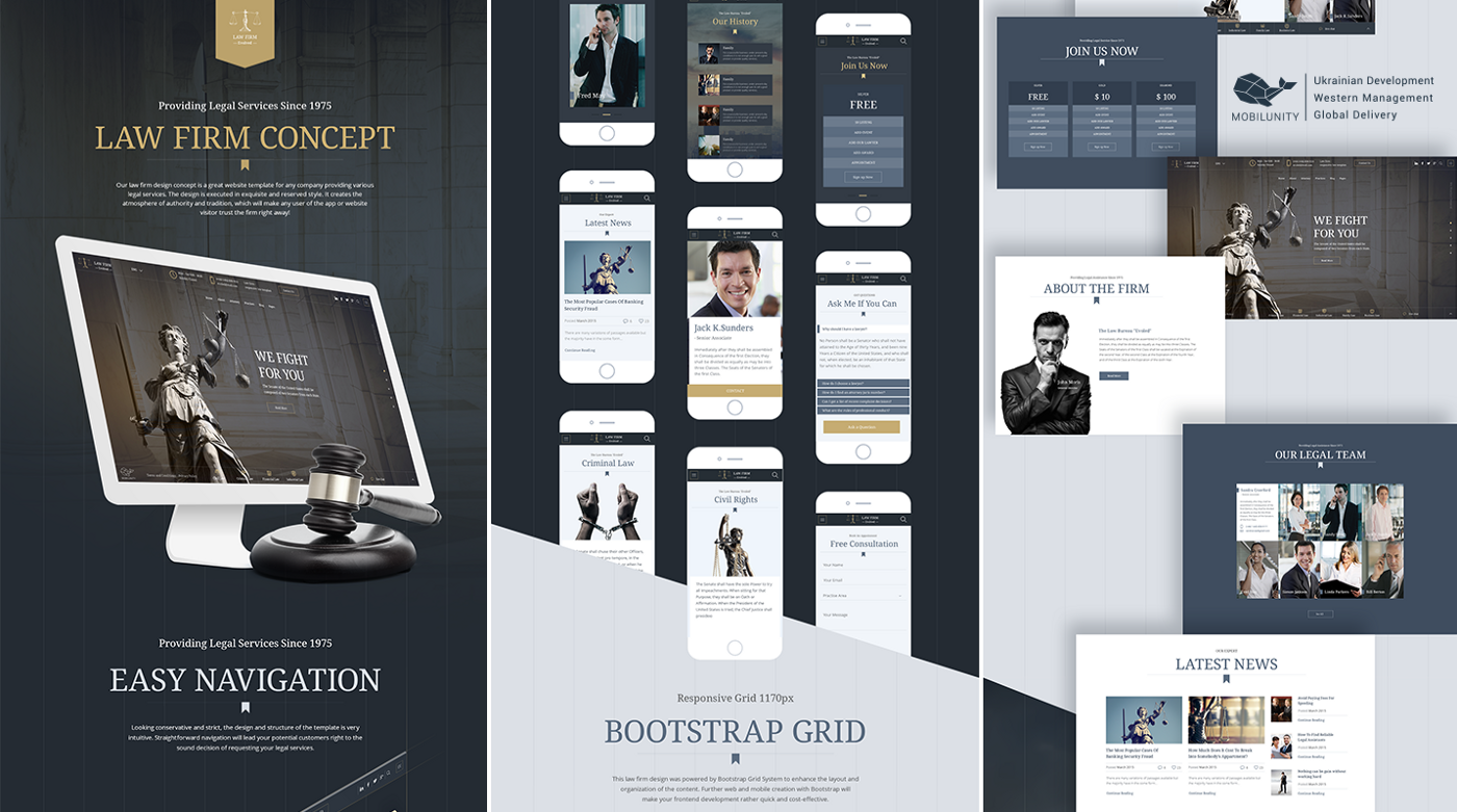 Custom Law Firm Website Development and Design Solutions