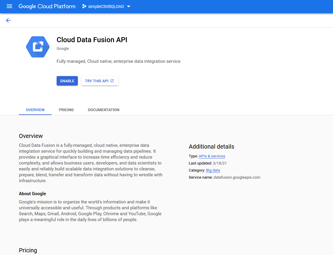 umair-akbar-0*5pbT ZyiF50gEir8 - End-to-end automated Analytics workload using Cloud Functions — Data Fusion — BigQuery and Data Studio