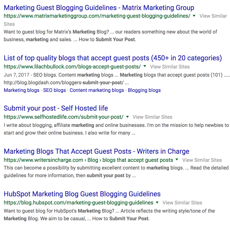 Find Guest Blog Opportunities in Less Than 5 Minutes (Step