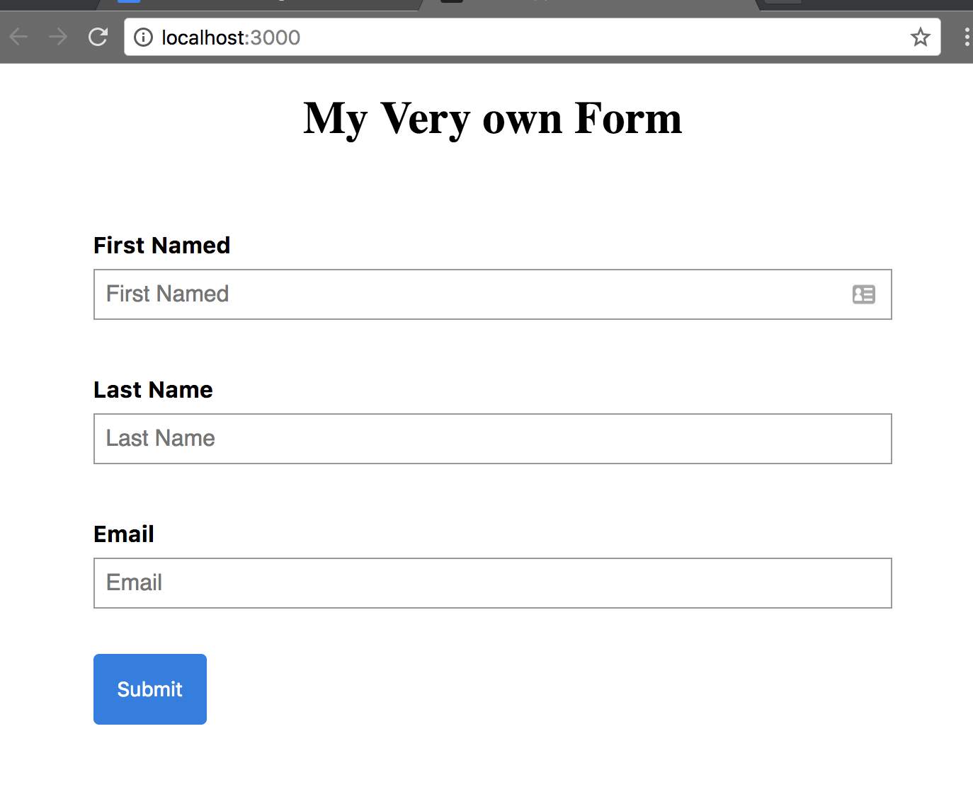 Forms with Redux Form v7 (Part 1 of 2) - codeburst