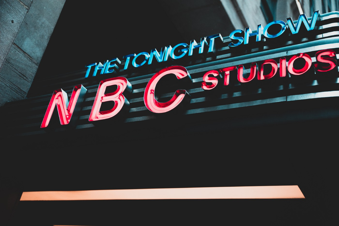 The sign for The Tonight Show studio.