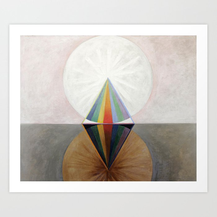Geometric art piece by Hilma af Klint