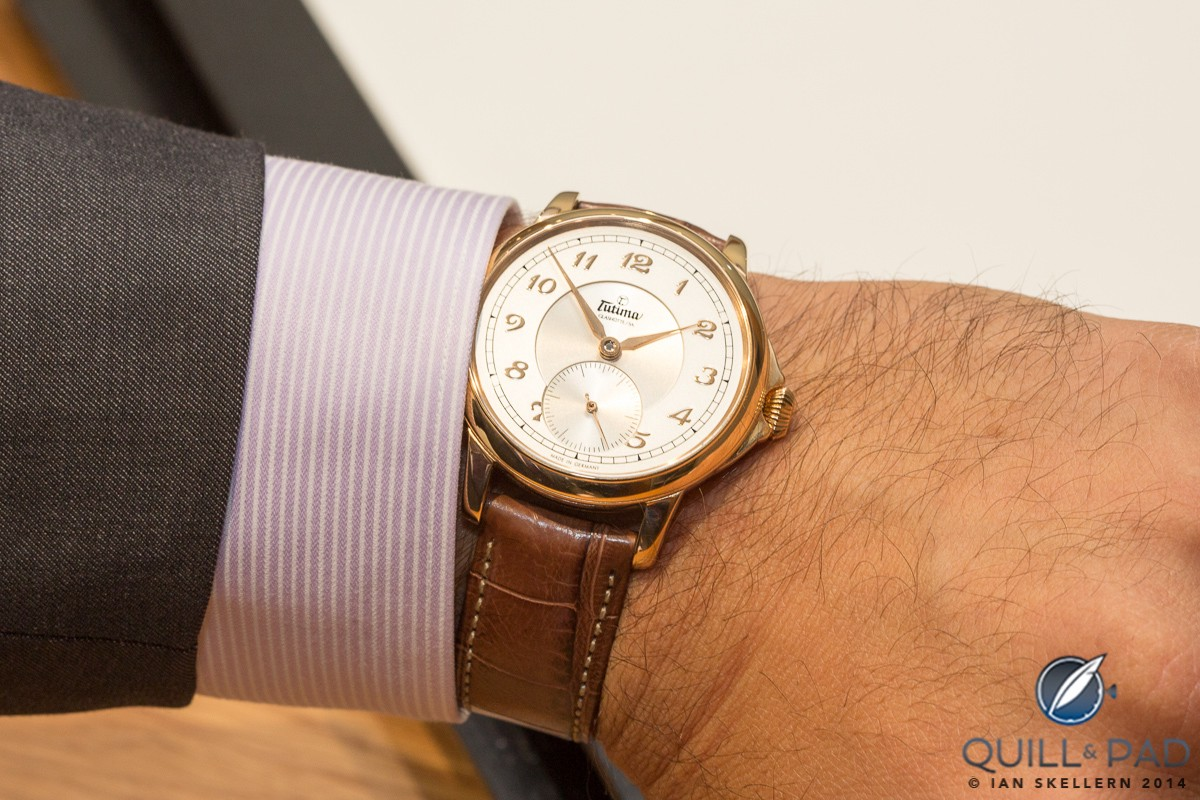 Tutima Hommage Minute Repeater on the wrist