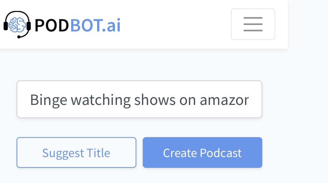 Entering new topic for publishing podcast in Podbot. Blog by Amar Vyas