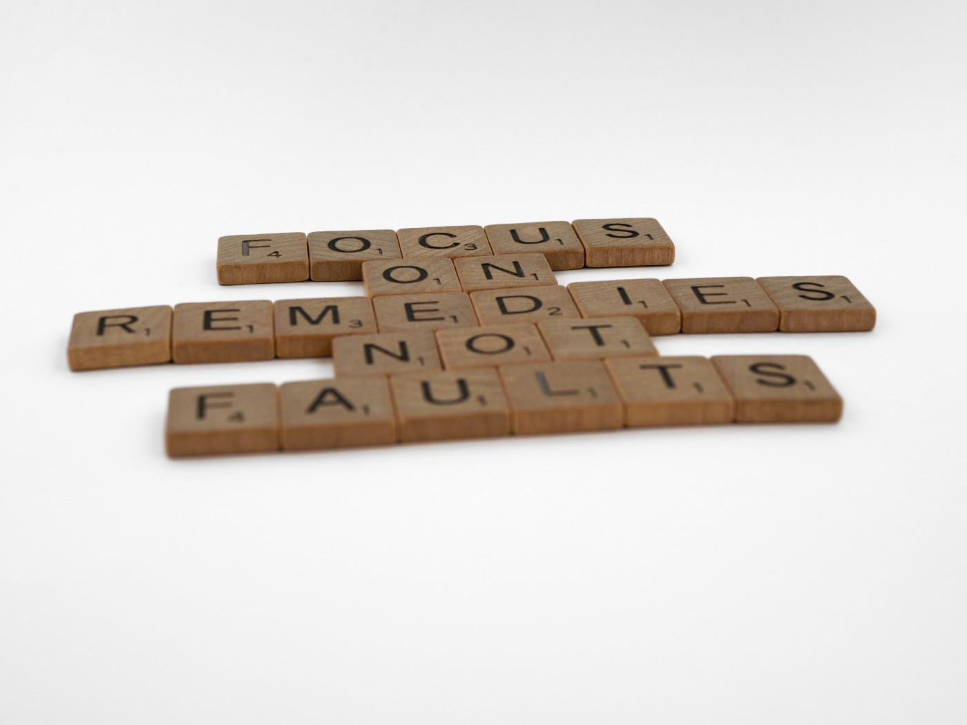 focus on remedies not faults in building blocks