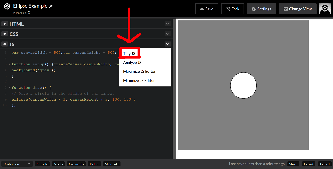 Circle Graph Codepen