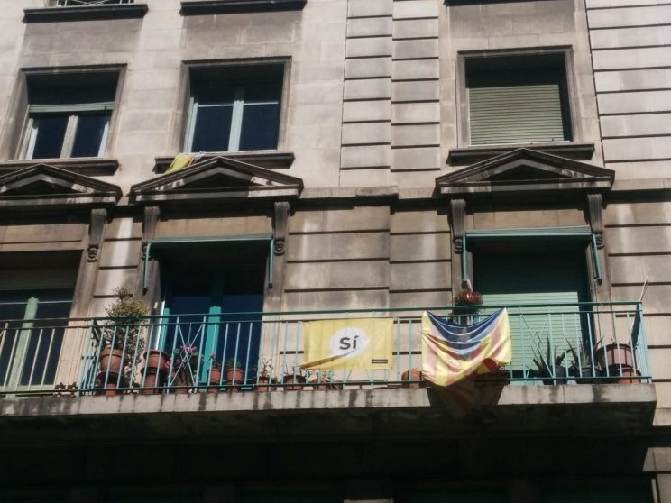Catalonia independence flags