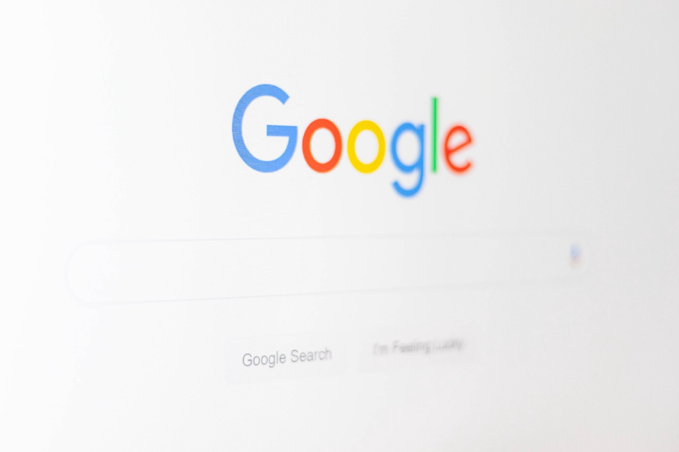 A screenshot of Google's search page.