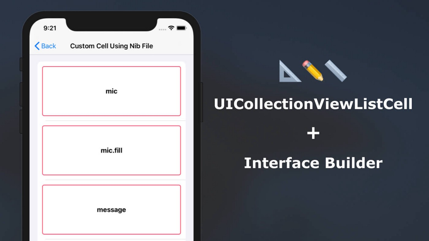 Designing Custom UICollectionViewListCell in Interface Builder