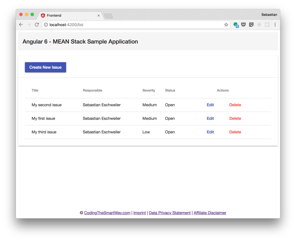 Angular 6 — MEAN Stack Crash Course — Part 1: Front-end Project