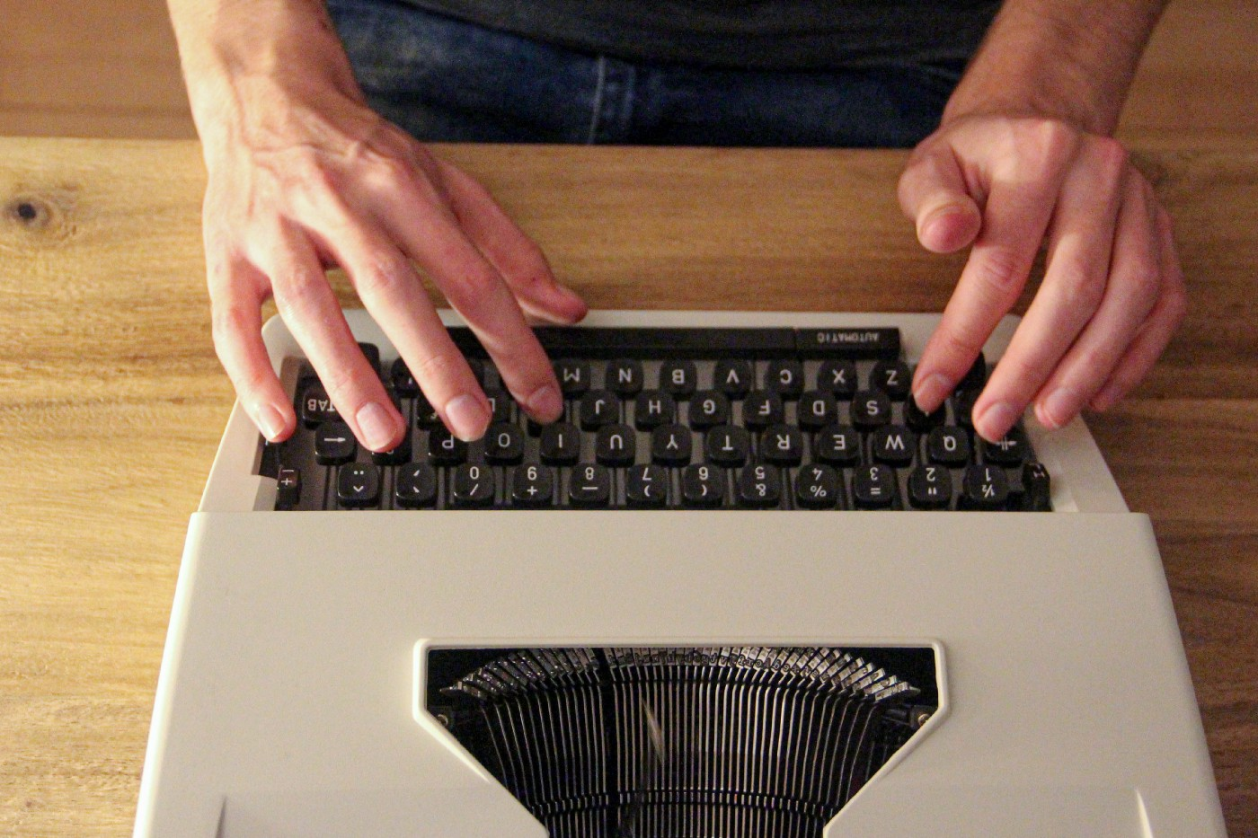 Typing on old keyboard