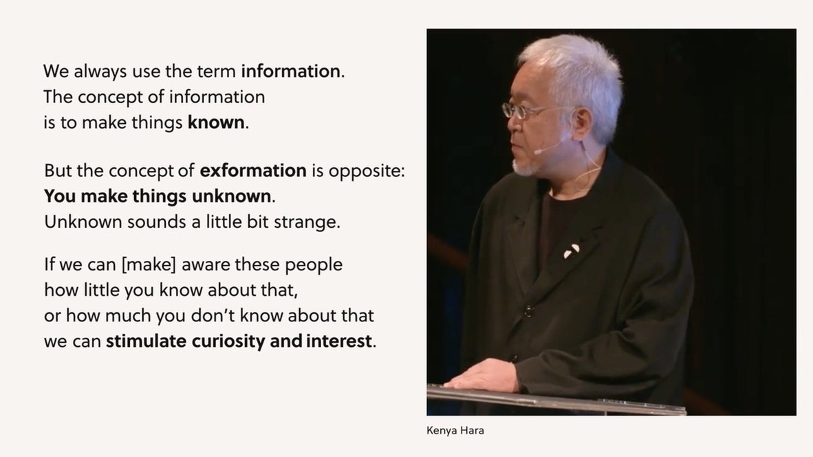 A screenshot from the keynote talk about exformation.