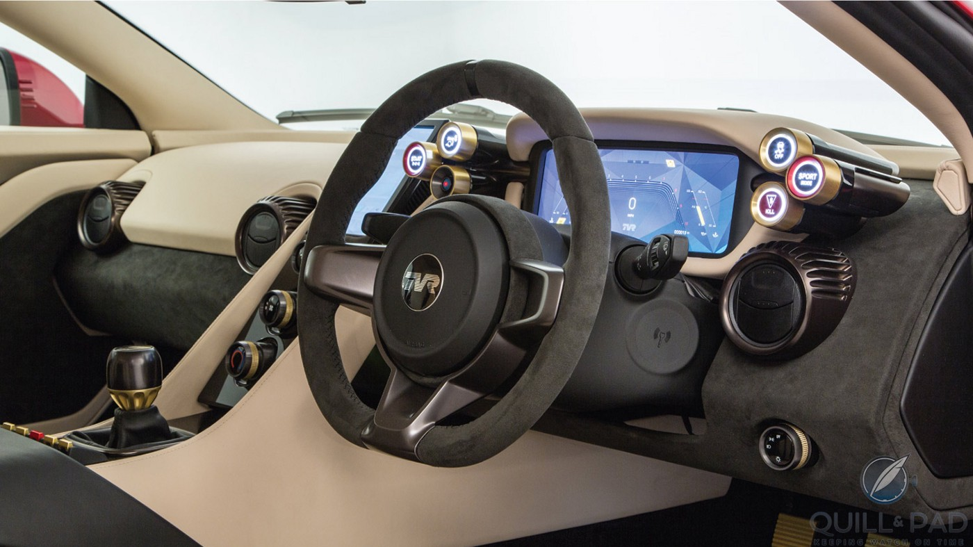 Dashboard of the 2018 TVR Griffith