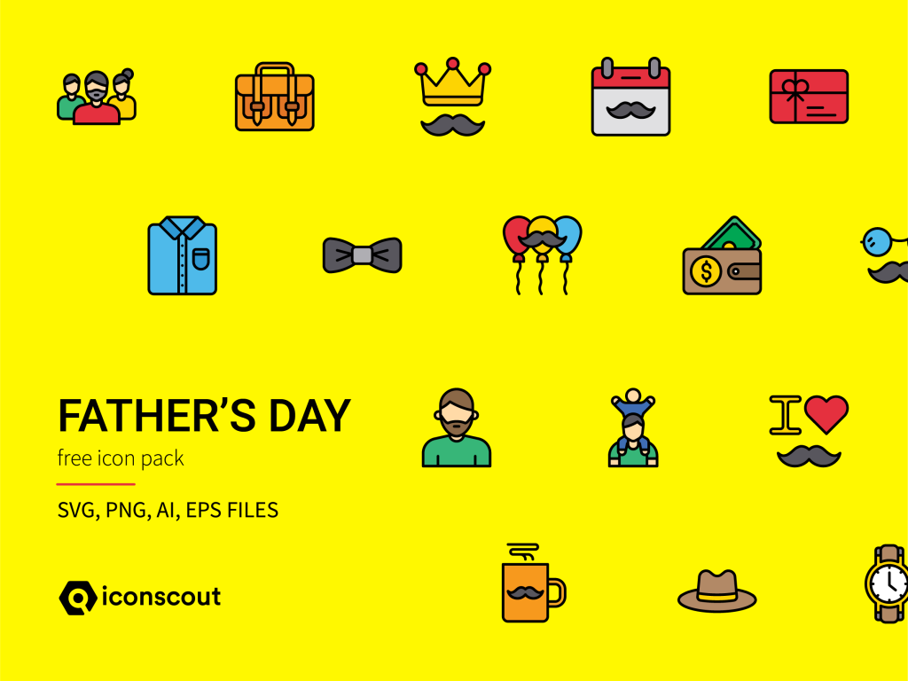 Fathers day icon pack from iconscout freebies