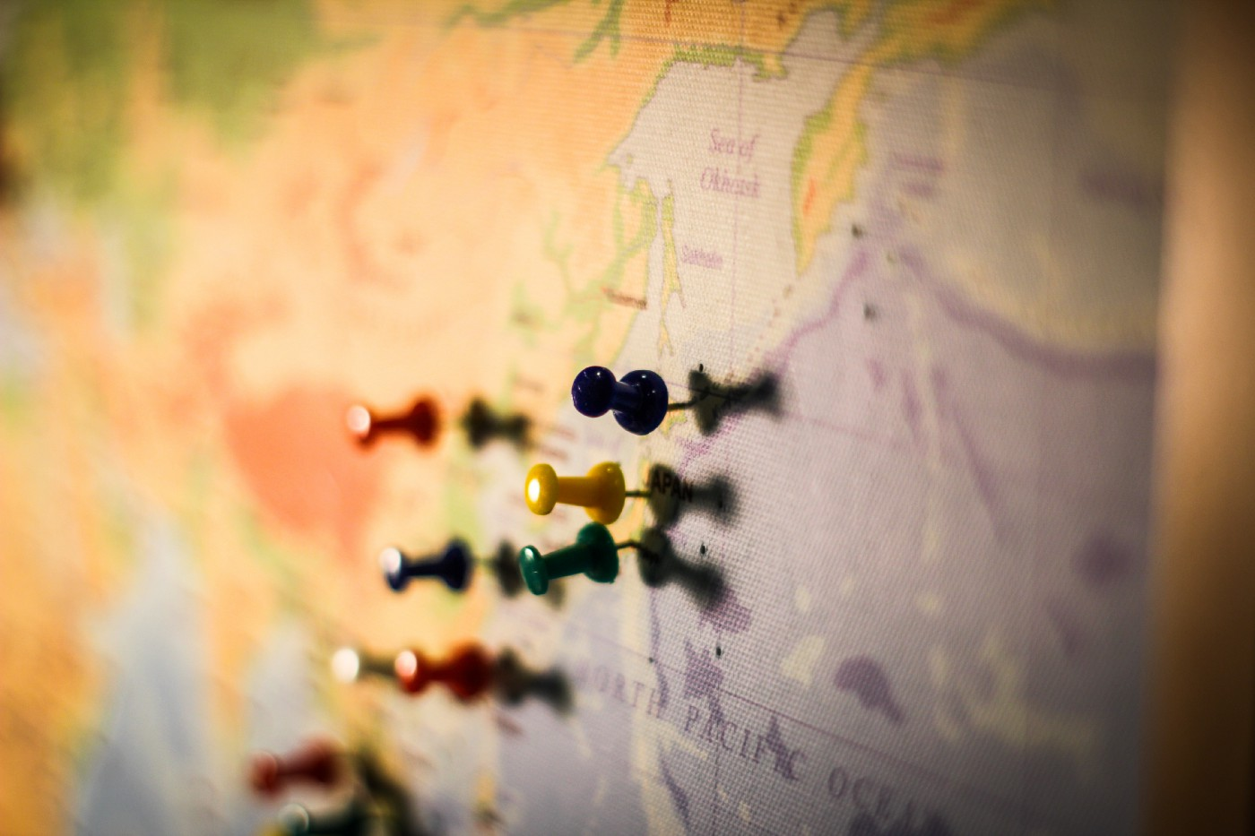 Pins in a map