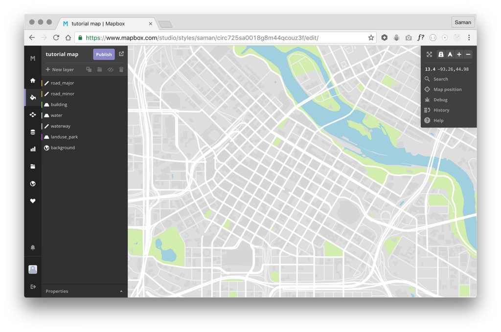 Design a location-based game map with Mapbox Studio