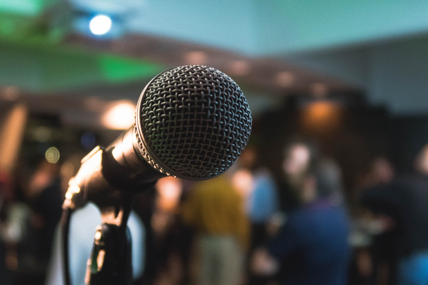public speaking at a conference