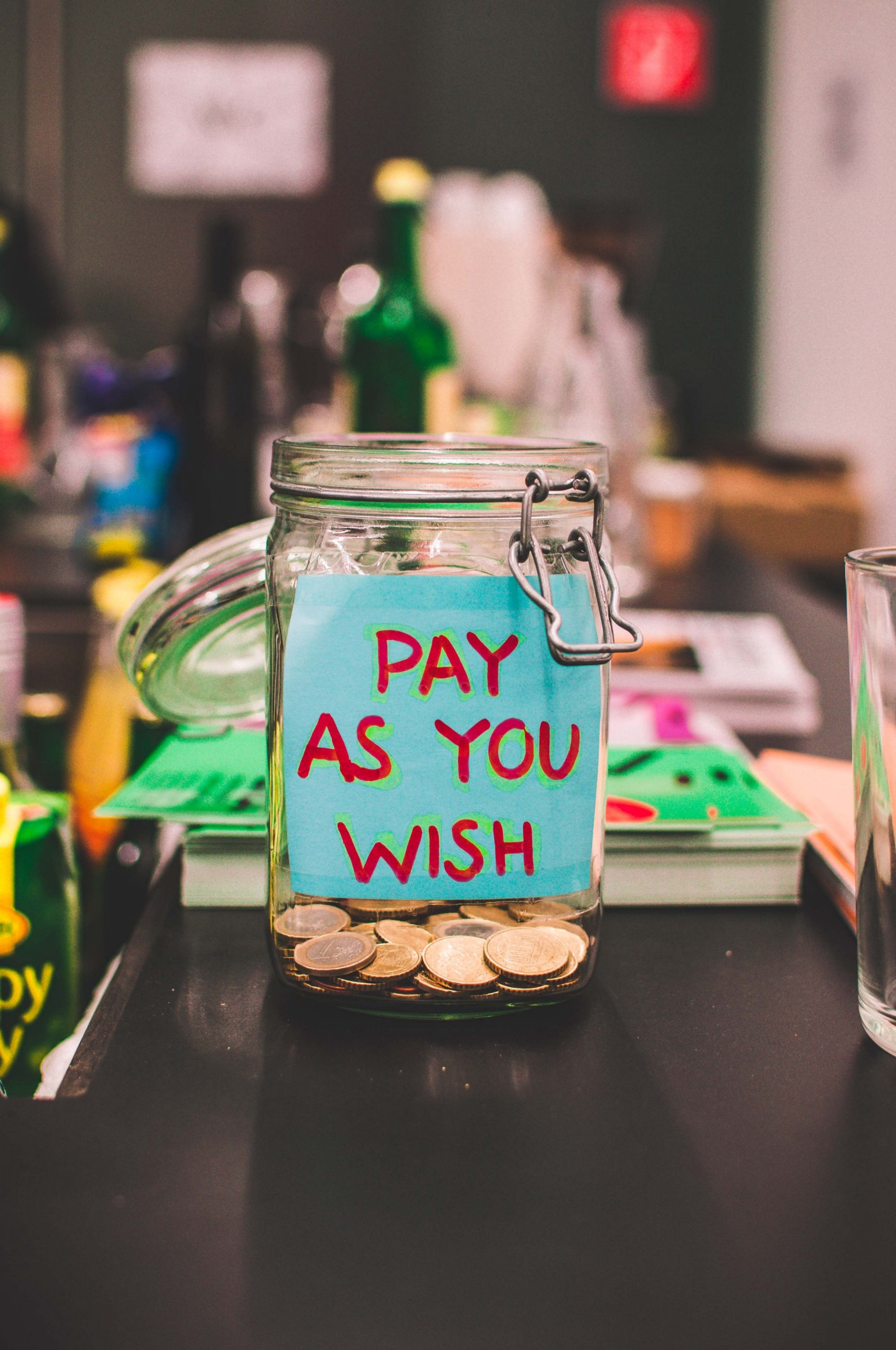 """pay as you wish"" jar"