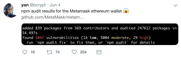 Dependency Audit Retrospective: June 2019 - MetaMask - Medium