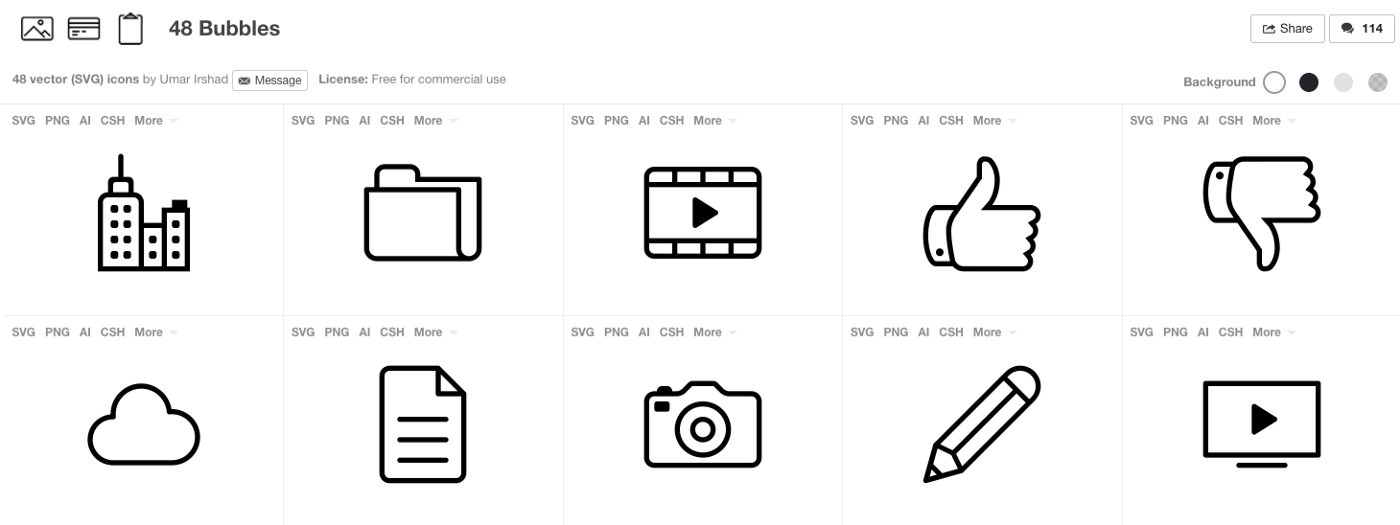 10 Sources for Free Commercial Web Icons - Planet Argon - Medium