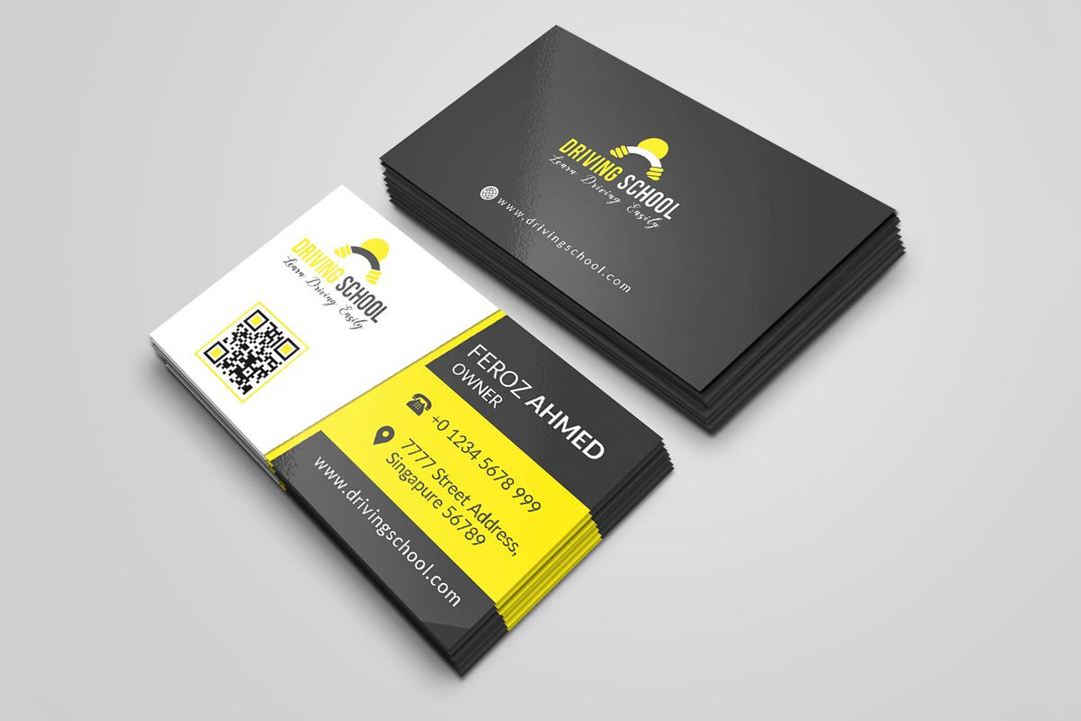 21 + Free Business Cards Templates PSD For 21  by Syed Faraz For Name Card Template Psd Free Download