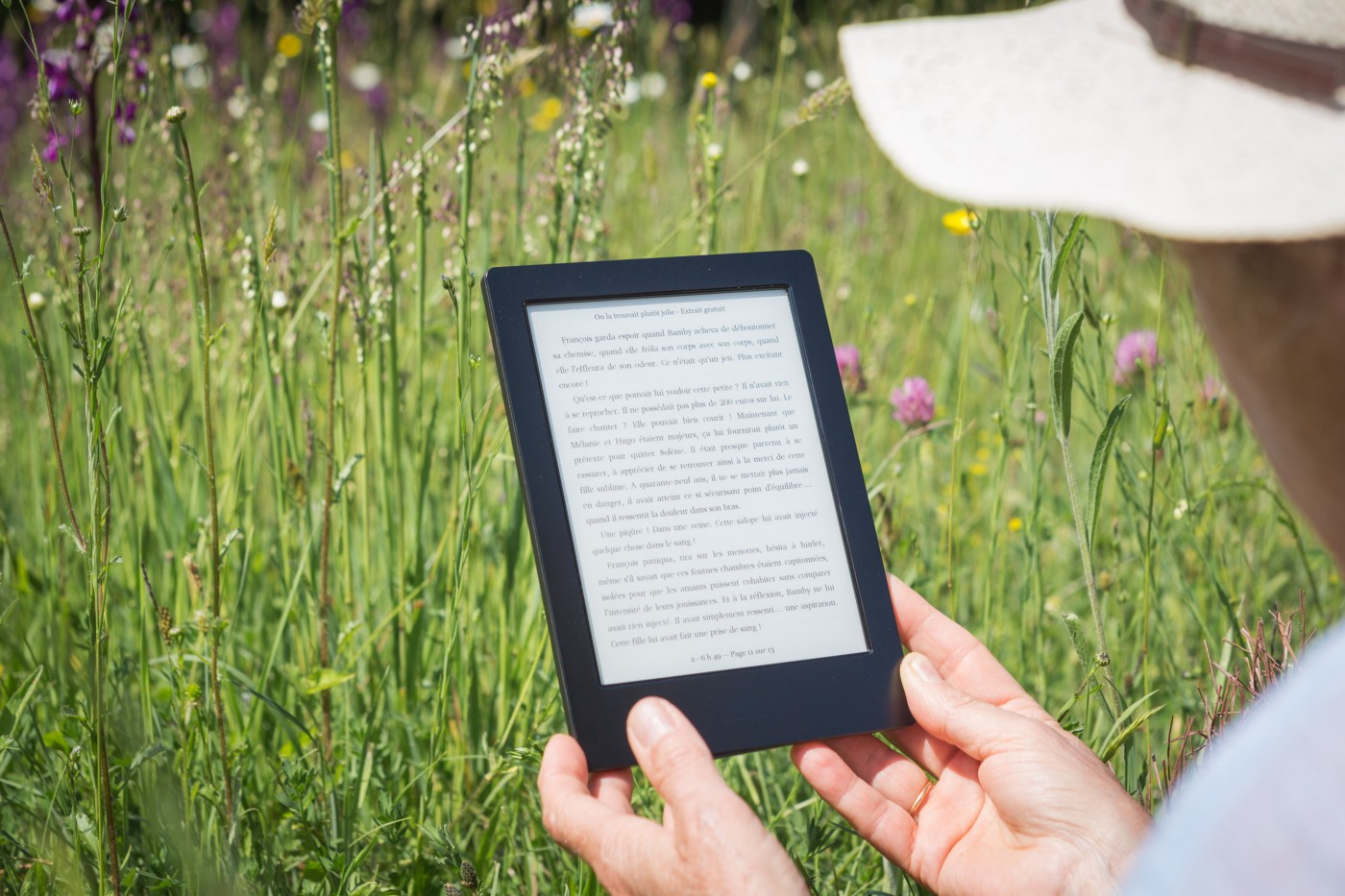 I was reading with my Kindle ereader